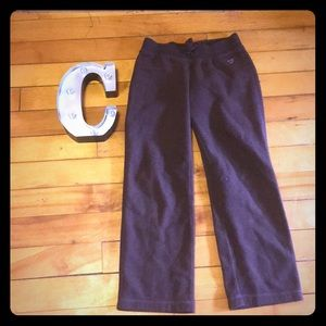 Brown sweatpants for girls size medium